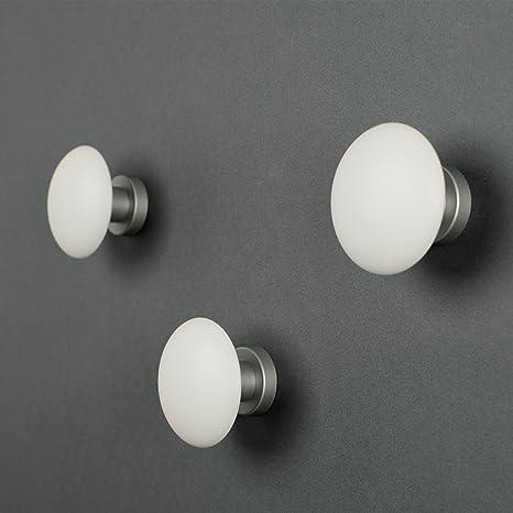 Attaccapanni Al Muro.Appendiabiti A Muro Element By Kreall Colore Bianco Confezione Da N