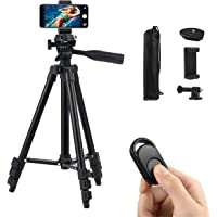 Polarduck Phone Tripod, Tripod for iPhone 42 Inch 106cm Lightweight Tripod Stand for iPhone/Samsung/Huawei Cell Phone…