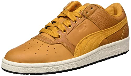 7e62c9d9c01d Puma Unisex Sky Ii Lo Color Blocked Lthr Inca Gold-Inca Gold Leather  Sneakers -