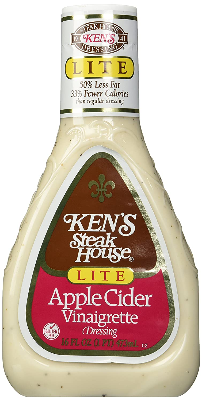 Ken's Steak House Apple Cider Vinaigrette, Lite, 16 oz