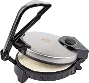 MasterChef Electric Tortilla Maker- Homemade Flatbread, Pitas, Tortillas- Heavy Duty, Non-stick Cooker Easier than Tortilla Press