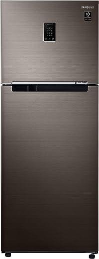 Samsung 407 L 3 Star Inverter Frost-Free Double Door Refrigerator (RT42T5C5EDX/TL, Luxe Brown)