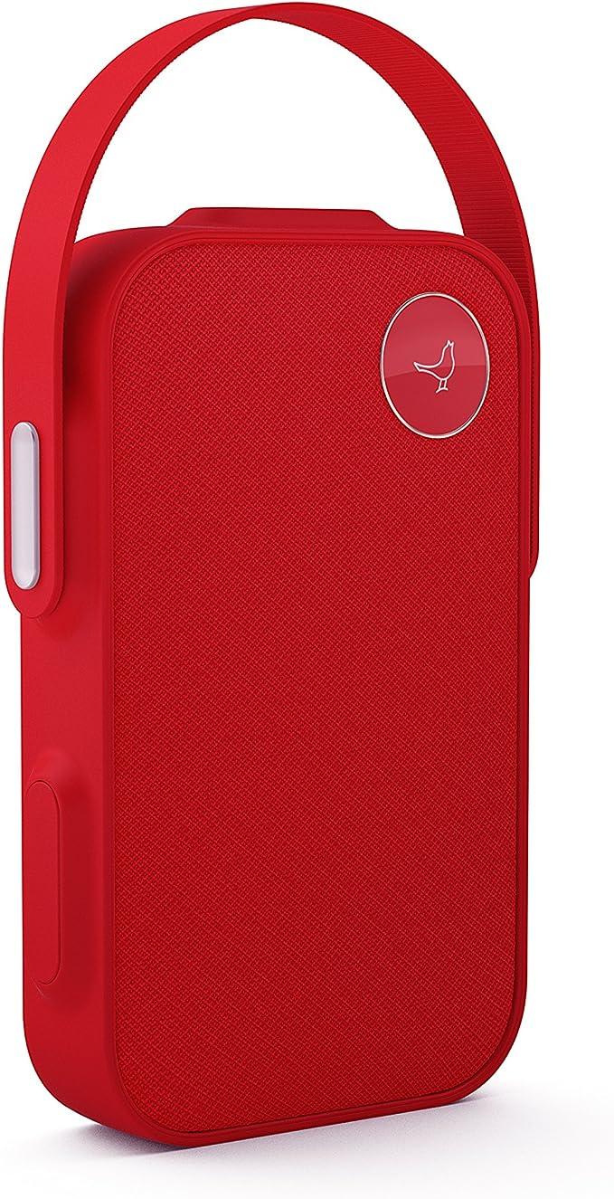 Libratone One Click Bluetooth Lautsprecher 360 Sound Touch Bedienung Ipx4 Spritzwassergeschützt 12 Std Akku Cerise Red Audio Hifi