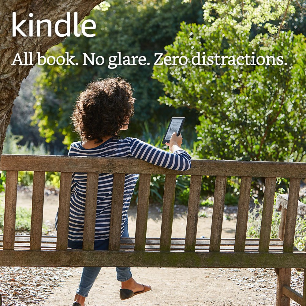 """Kindle E Reader, 6"""" Glare Free Touchscreen Display, Wi Fi (White)   Includes Special Offers by Amazon"""