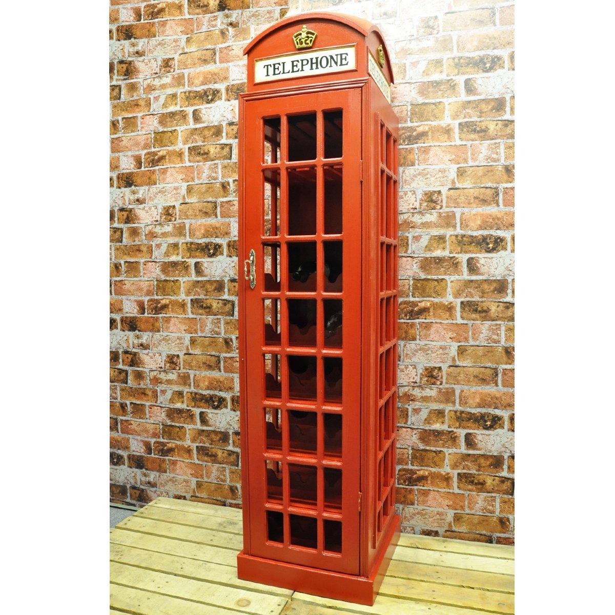 Red Telephone Box Wine Cabinet Very Large: Amazon.co.uk: Kitchen ...