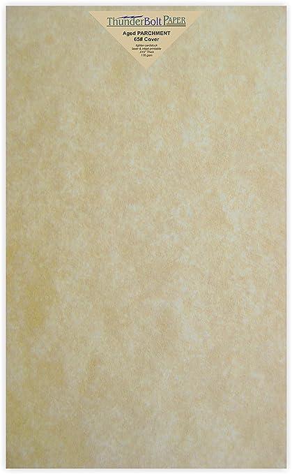 Amazon.com: 100 Old Age Parchment 65lb Cover Paper Sheets 8.5 X 14 ...