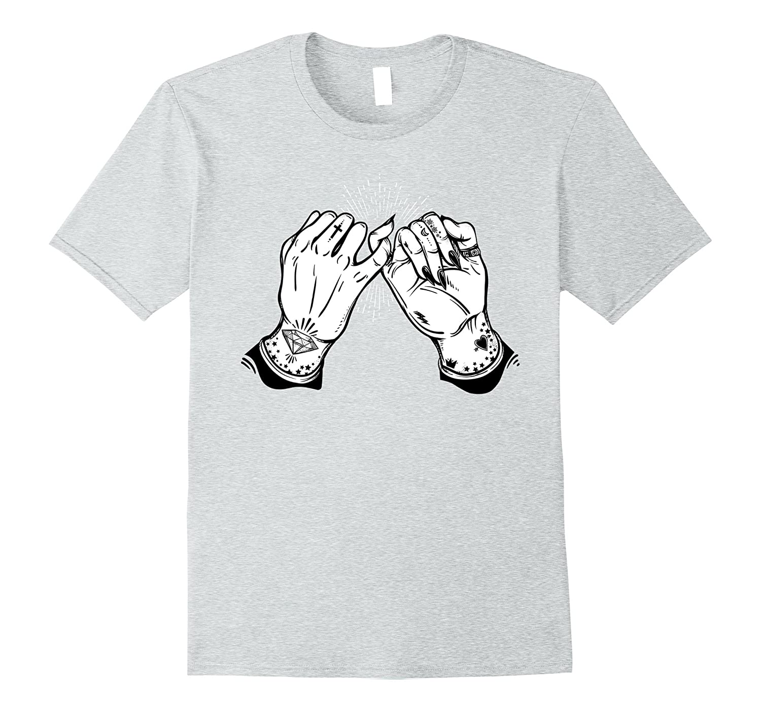 3b325fa09 Pinky Promise Tshirt - Tattoo Hands Best Friend Tee-ah my shirt one gift