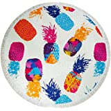 Utop Microfiber Beach Towel Pineapple Print Quick Dry Lightweight Travel Towel for Beach Swim Picnic Camping Beach…