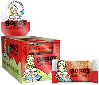 product image for Bobo's Oat Bars (Cranberry Orange, 12 Pack of 3 oz Bars) Gluten Free Whole Grain Rolled Oat Bars - Great Tasting Vegan On-The-Go Snack, Made in the USA