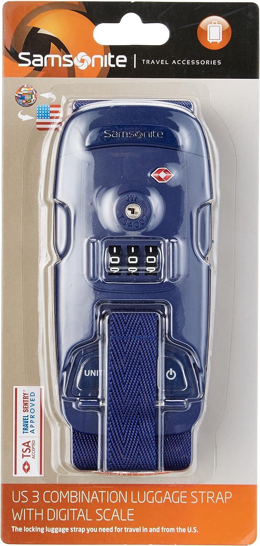 25 cm Samsonite Travel Accessoire Sangle /à Bagage /à Combinaison TSA Indigo Blue 63220//1439