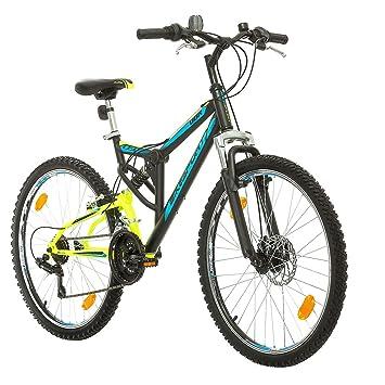 BIKE SPORT LIVE ACTIVE Parallax 24 Zoll Junge M/ädchen Fahrrad MTB Mountainbike Fully Full Suspension Shimano 18 Gang