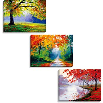 amazoncom canvas wall art tree of life abstract painting