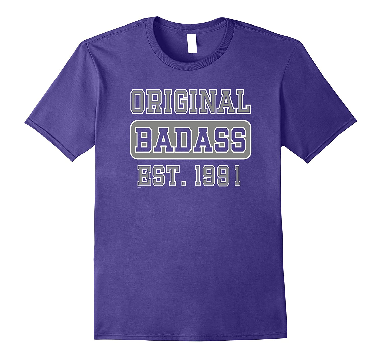 26th birthday gift for Badass men woman born in 1991 tshirt-Vaci