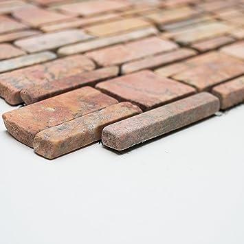 Fliesen Mosaik Mosaikfliese Marmor Naturstein Terracotta Bad Küche - Mosaik fliesen terracotta