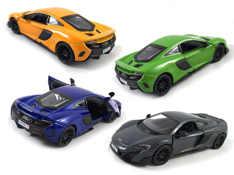 【再入荷】 HCK 2017 プルバックトイ McLaren 2017 675LT プルバックトイ 車 1:36スケール 車 (ブルー/オレンジ/グリーン/グレー) 4個セット B07JMNY7J5, 茂木町:5370ff15 --- sinefi.org.br