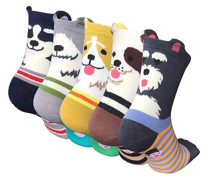 LOFIR Aguinaldo Calcetín de Navidad para Mujeres Calcetines de animales lindos de las mujeres Calcetines de