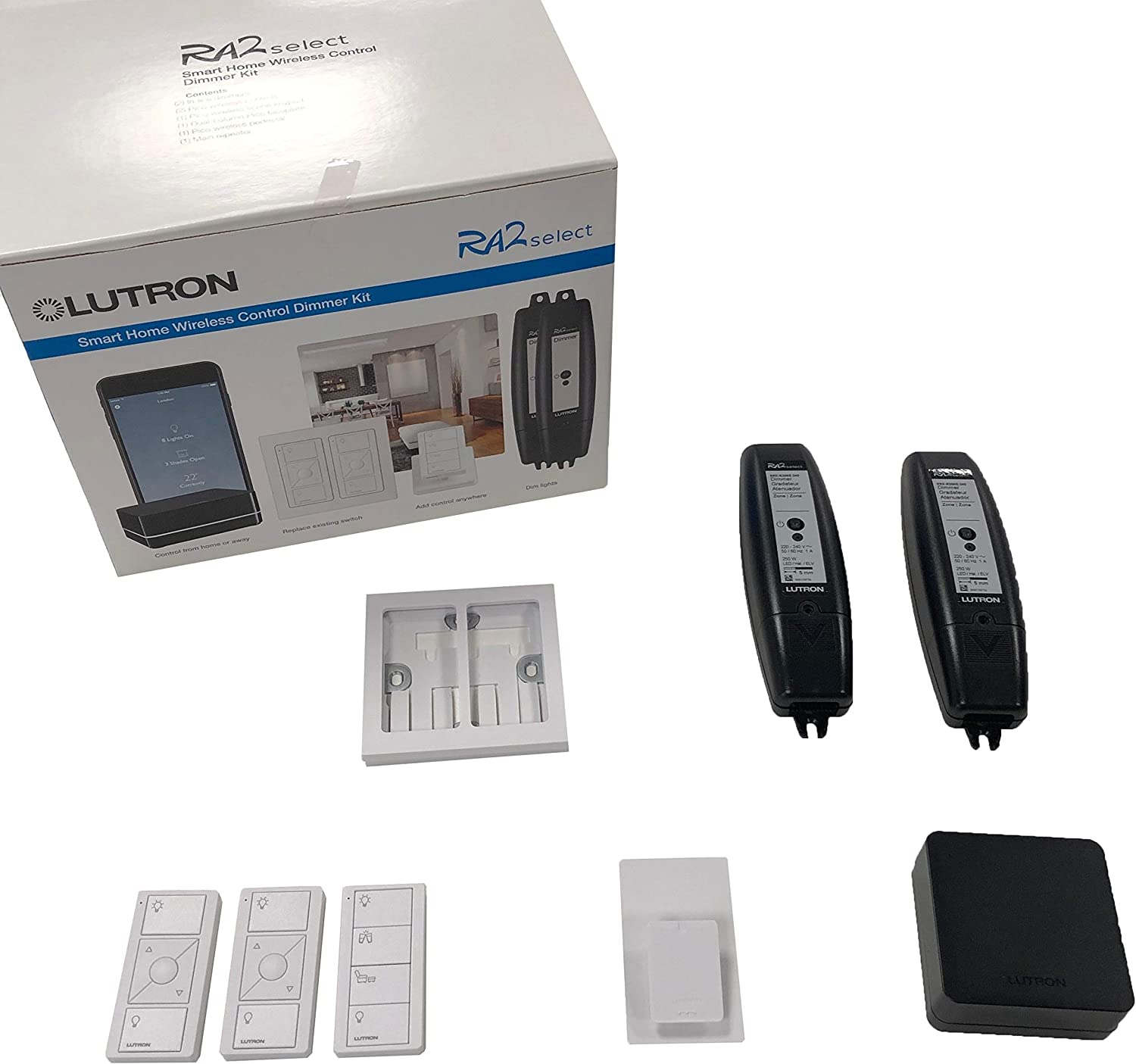 Lutron RA2 Select Starter Kit | Retrofit Lighting Automation Solutions | by  NeoGear: Amazon.co.uk: Lighting