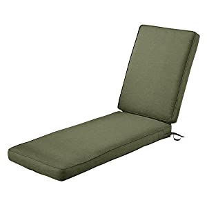 "Classic Accessories Montlake Chaise Cushion Foam & Slip Cover, Heather Fern, 72x21x3"" Thickwith Montlake Cushion"