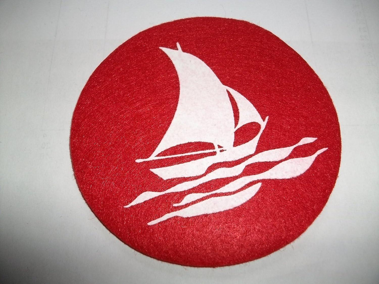 rund 30° waschbar Filzuntersetzer D.ca.10cm Untersetzer,maritim Stärke 3mm