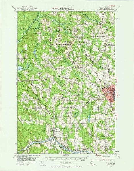 Amazon.com : YellowMaps Caribou ME topo map, 1:62500 Scale ... on isle of orleans map, colorado trail bear creek map, caribou lake michigan, caribou veterans cemetery, portsmouth new hampshire map, caribou colorado, caribou mountains map, caribou fire, caribou in alaska, caribou wyoming map, bangor map, caribou lake ontario, loring air force base map, alaska caribou range map, north caribou lake map, caribou me map, caribou lake alaska map, caribou vs starbucks prices prices, caribou me weather, noaa weather radar map,