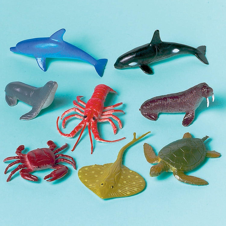 amazon com fun filled mini sea animals party favours plastic 2