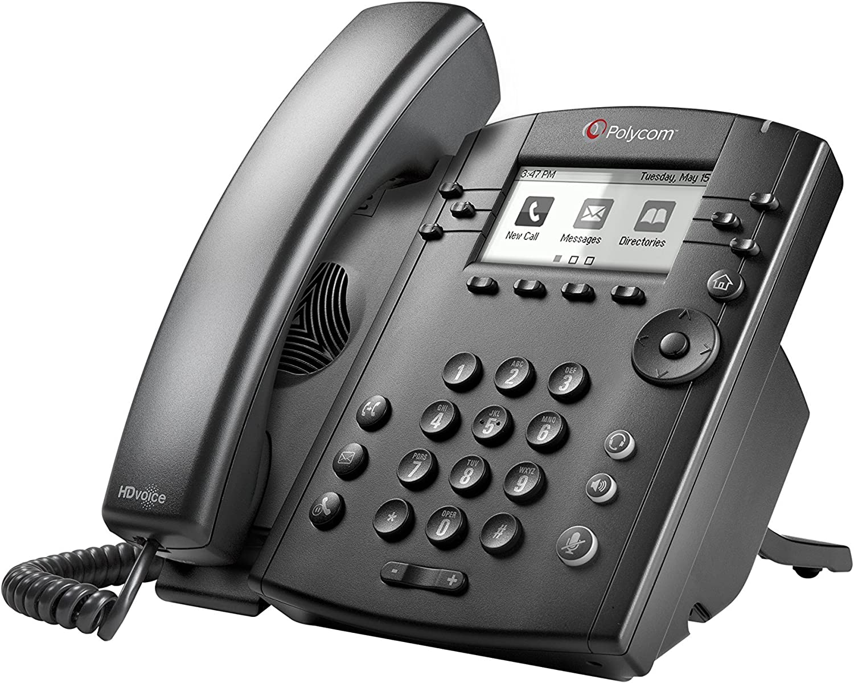 POLYCOM VVX 300 6-line Desktop Phone with HD Voice PoE without Power Su