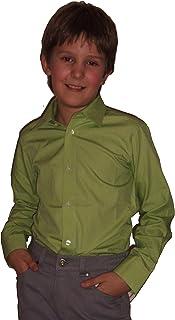 Helgas Modewelt Jungs Hemd zum Kommunionanzug, Oberhemd aus Baumwolle, Slim 51024