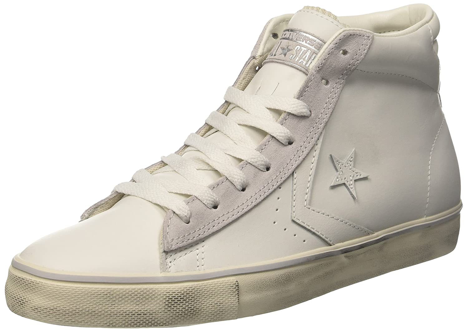 Converse Herren Pro Leather Mid Sneakers Weiss Star White/Mouse/Turtledove