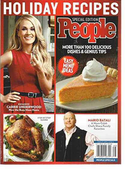 Amazon people magazine holiday recipes special edition easy people magazine holiday recipes special edition easy menu ideas issue2016 forumfinder Image collections