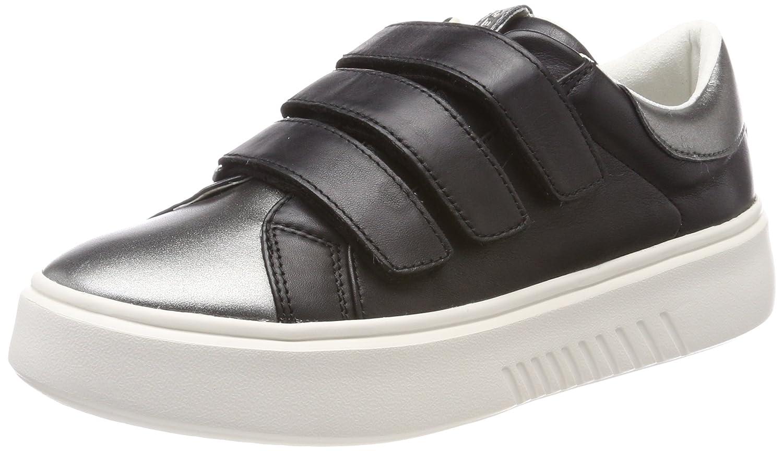 Geox D Nhenbus C, Zapatillas para Mujer 38 EU|Negro (Black)