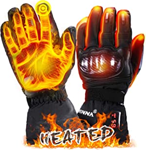winna Heated Gloves, Battery Electric Motorcycle Gloves, Touchscreen Heated Skiing Gloves & Snowboarding Gloves for Men Women