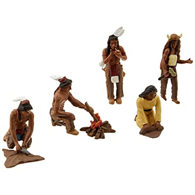 Woodland Scenics SP4443 1.5-Inch Scene Setters Figurine, Native Americans, 5/Pack: Home & Kitchen