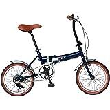 Rover(ローバー) FDB160 16インチ小型コンパクト折りたたみ自転車 クラシック調バイク 18216