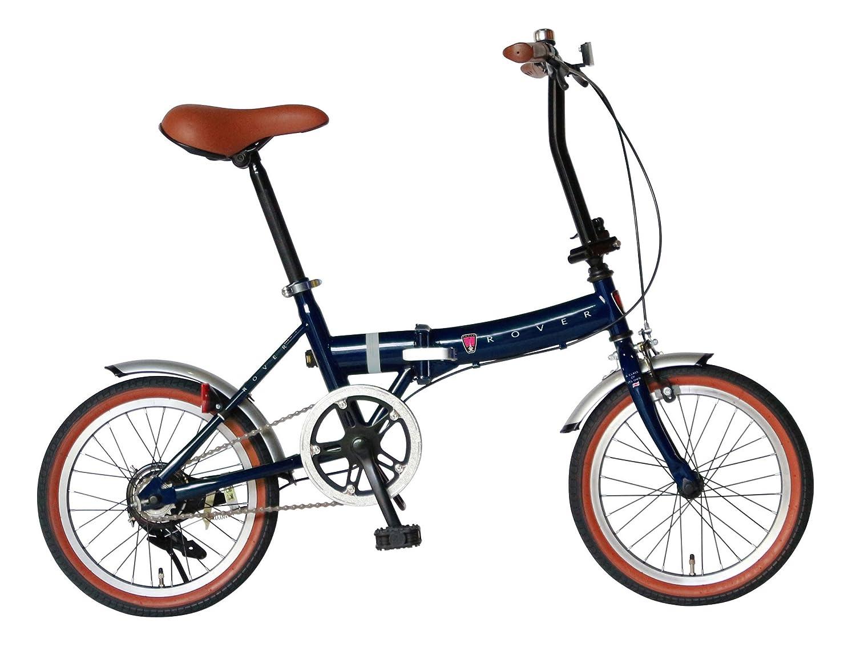 ローバー FDB160 16インチ小型コンパクト折りたたみ自転車 クラシック調バイク 18216
