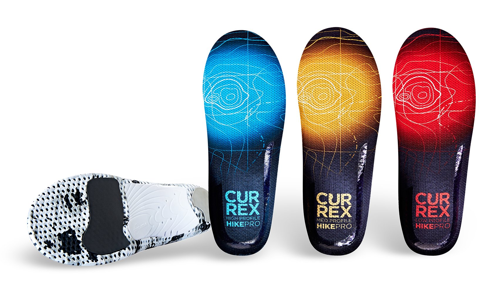currexSole HikePro Insoles - Europe's Leading Insoles for Lightweight Hiking, Trail Running, Walking - by (Footdisc) - Low Arc XL