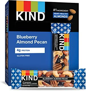 product image for KIND Bars, Blueberry Pecan, Gluten Free, Low Sugar, 1.4oz, 12 Count