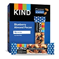 KIND Bars, Blueberry Pecan, Gluten Free, Low Sugar, 1.4 Ounce Bars, 12 Count (Packaging...