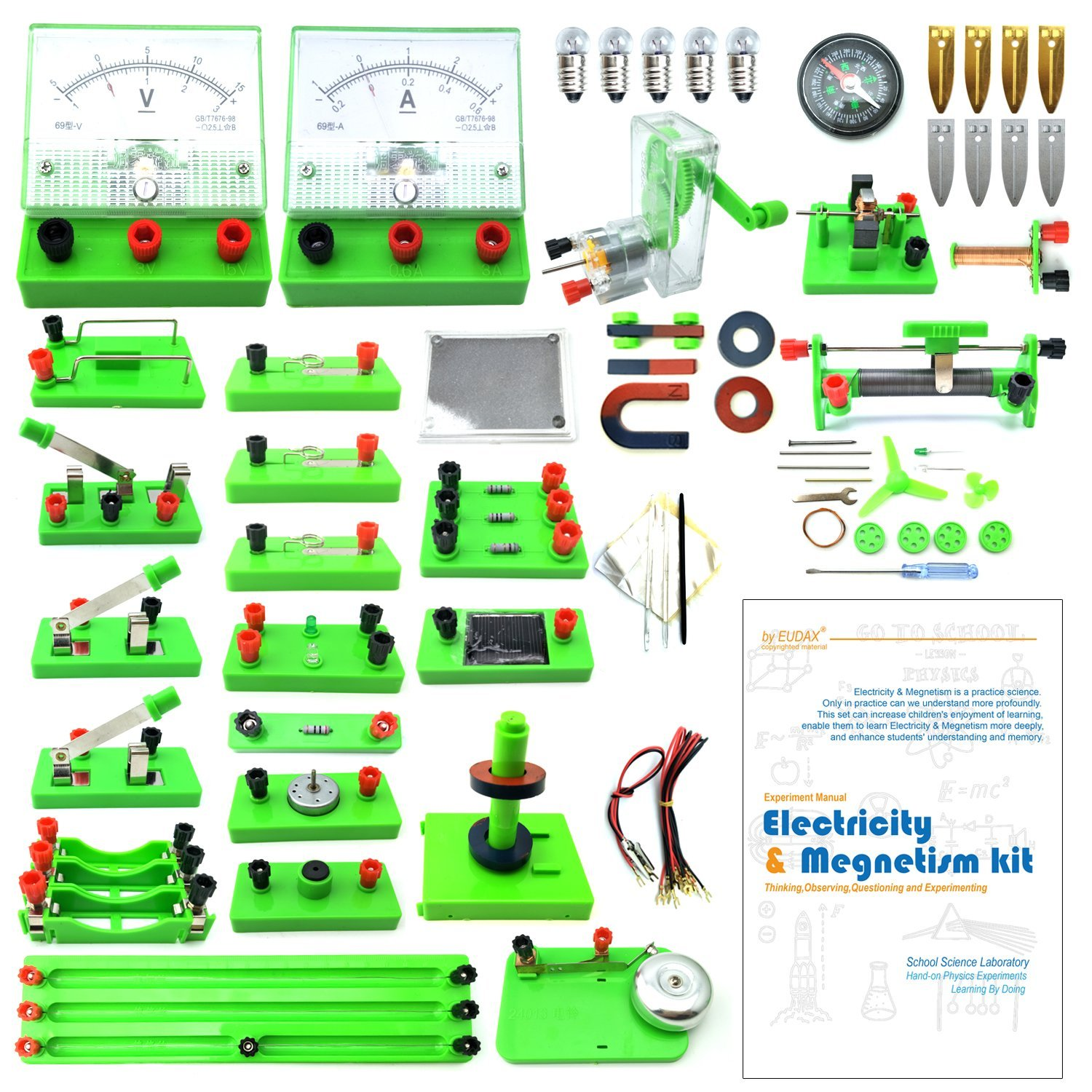 Wosky School Physics Labs Basic Electricity Discovery Circuit The Voltages Across Components In A Series Gcse Science Magnetism Experiment Kits Kids Junior Senior High Students Electromagnetism Elementary