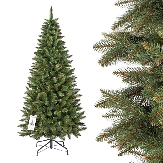 357 opinioni per FAIRYTREES Albero di Natale artificiale SLIM, Abete Rosso Naturale, tronco