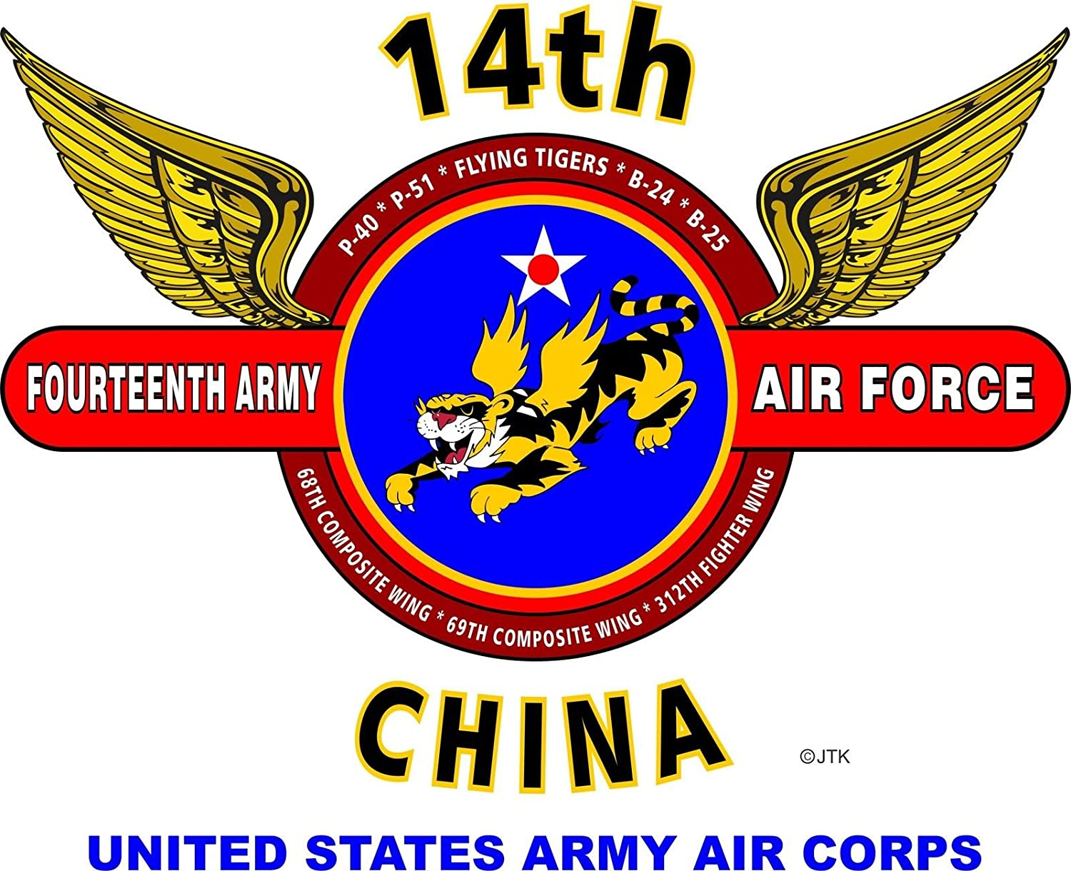 14th army air force usmy air corps flying tigerschina 14th army air force usmy air corps flying tigerschina wings shirt at amazon mens clothing store biocorpaavc Gallery