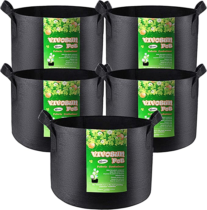 Non-Woven Cloth Planters for Potatoes Space-Saver Growing Kit ...