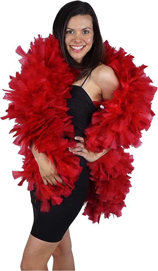 Feather Boa Supersoft Baby Pink Burlesque Adult Ladies Fancy Dress Accessory
