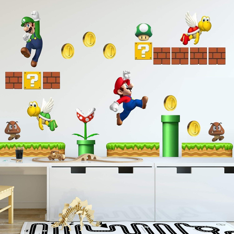 Amazon com nintendo wall graphics super mario bros home improvement