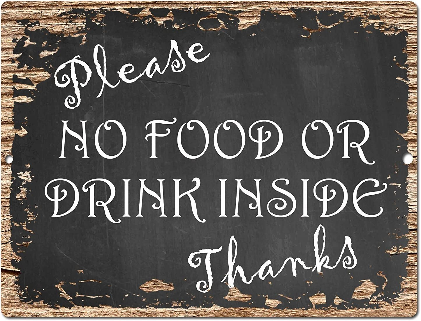 Please No Food Or Drink Sign Rustic Vintage Retro Kitchen Bar Pub Coffee Shop Wall Decor 9