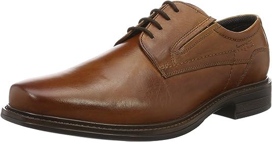 TALLA 40 EU X-Ancho. bugatti 311152021100, Zapatos de Cordones Derby para Hombre