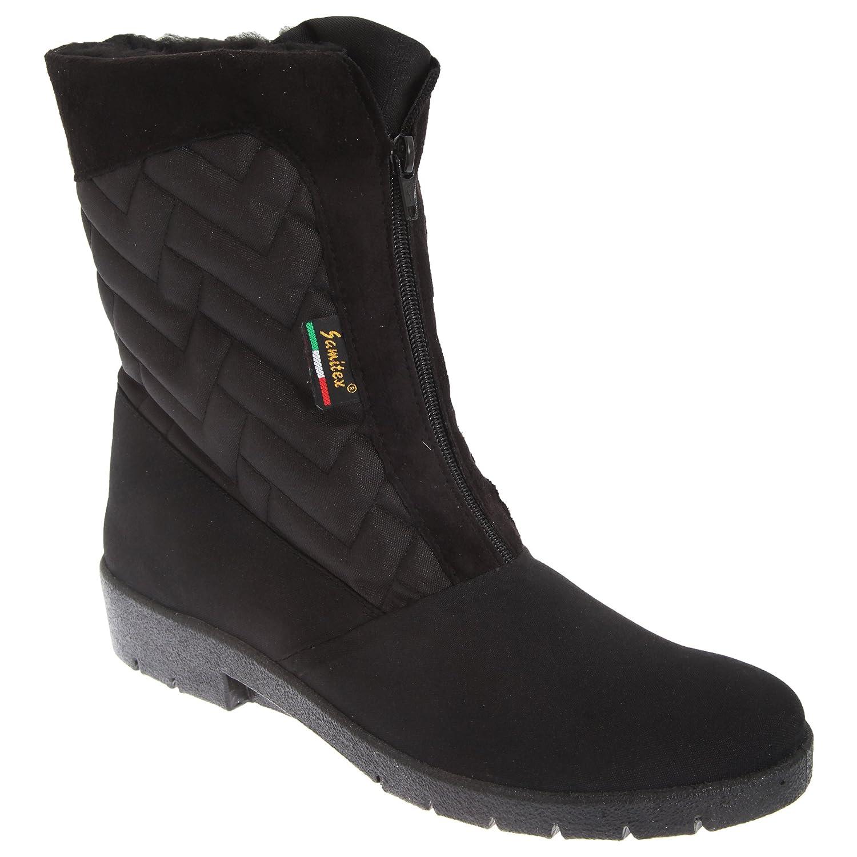 Mod Comfys Damen Thermo Winterstiefel Stiefel mit Reißverschluss in der Mitte