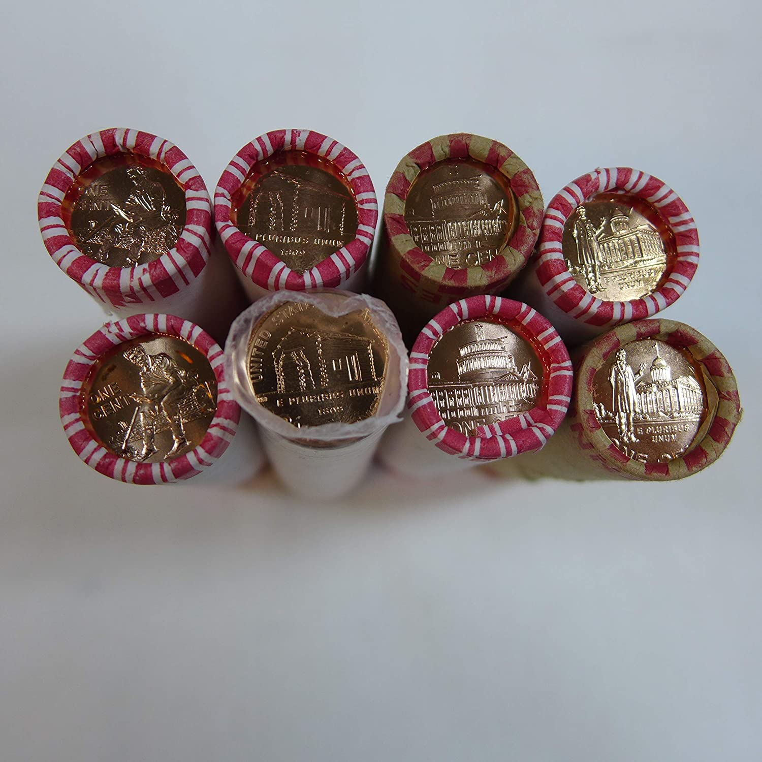 Complete Set Lincoln Bicentennial 2009 Pennies P /& D From Mint Rolls 8 Coins