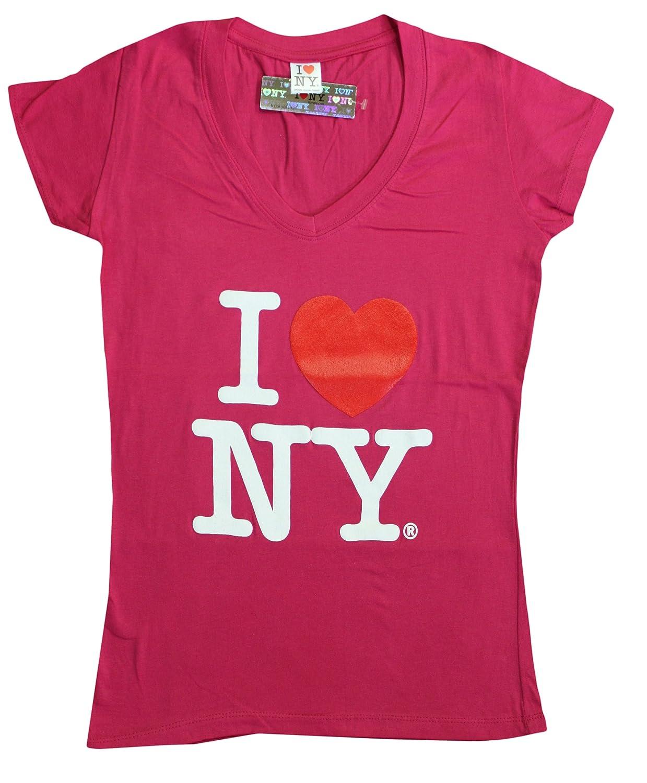 Amazon I Love Ny New York Womens V Neck T Shirt Spandex Heart