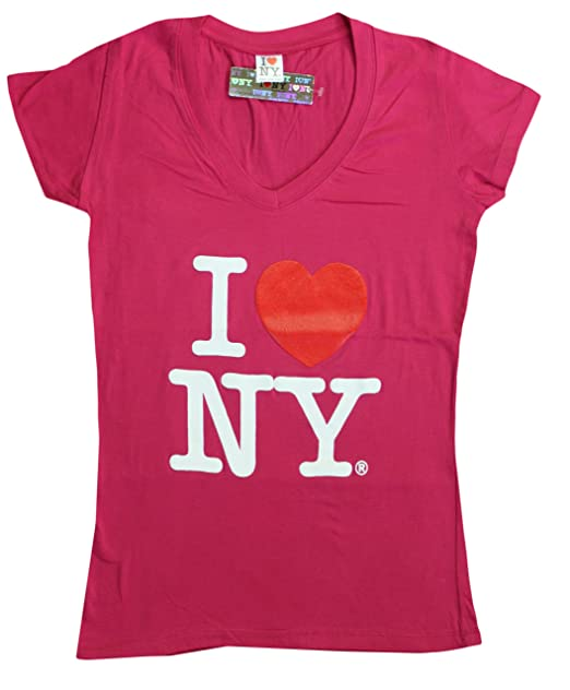 ce500e6b Image Unavailable. Image not available for. Color: I Love NY New York  Womens V-Neck T-Shirt ...