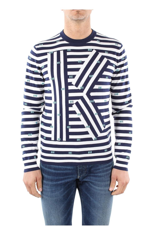 Kenzo - Crew-neck Sweaters - Men - K Oui Non Striped Sweater for men